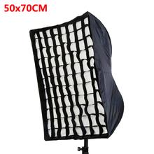 "Photo Studio 50x70cm/19.7""x27.6"" Umbrella Softbox Reflector+Grid For Speedlite Flash Photography Soft Box Fotografia Light Box(China (Mainland))"