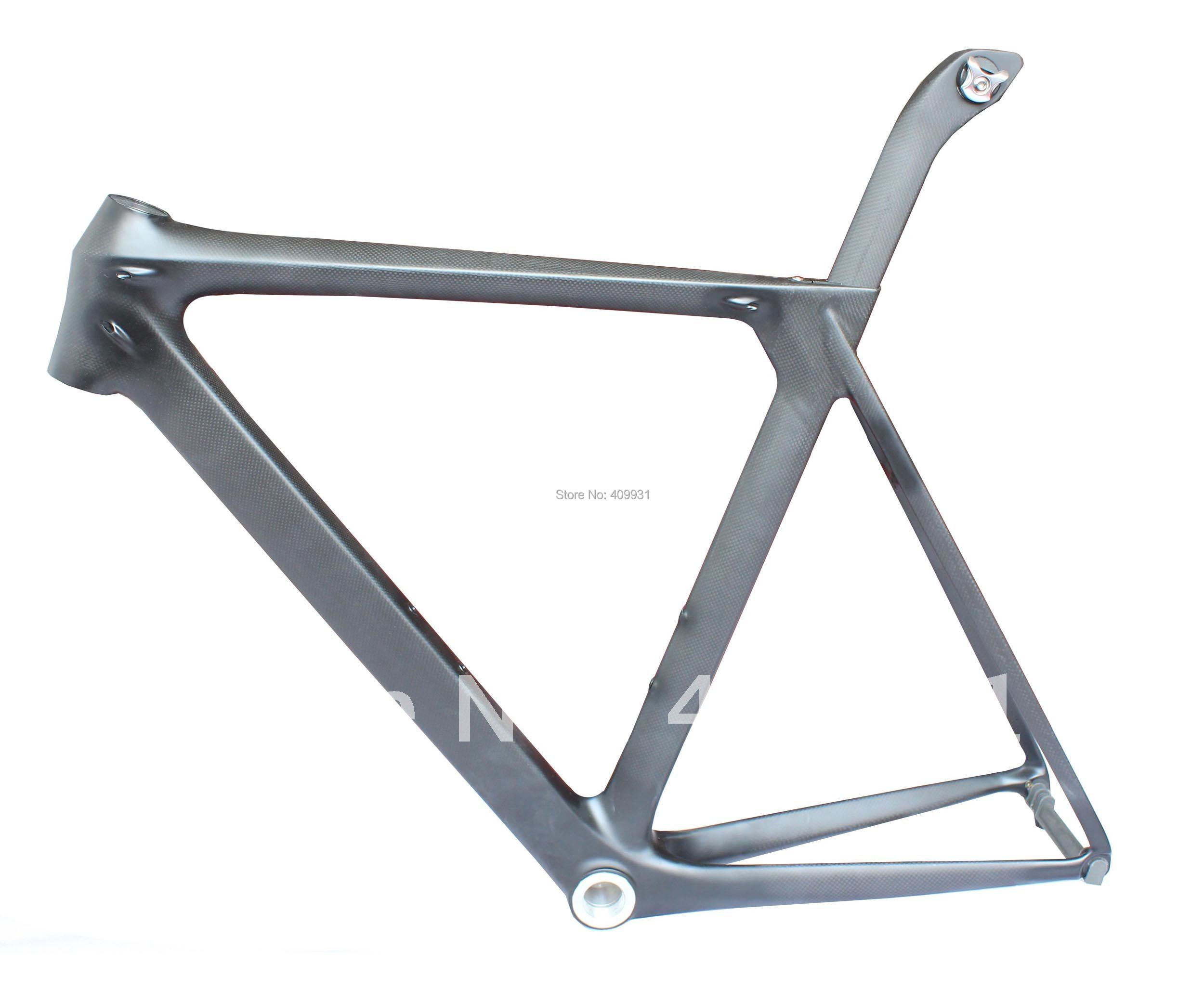 High quality Carbon road Bicycle Frame 54cm 3K Weave Matt Finish BSA Bottom Bracket + Front Fork + Seatpost 2012 Newest Design(China (Mainland))
