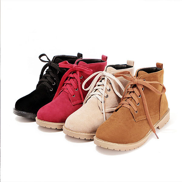 2015 winter new  solid color ankle boots women falt shoes ankle boots comfortable women round toe boots FREE SHIPPING D3093<br><br>Aliexpress