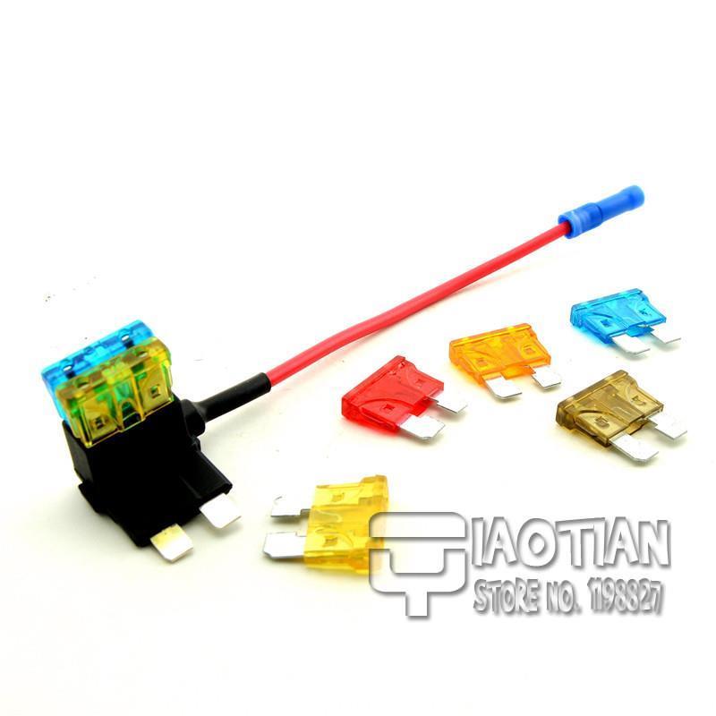 1PCS Medium ATM Fuse Tap Add on Dual Circuit Adapter Auto Car Auto Terminals<br><br>Aliexpress