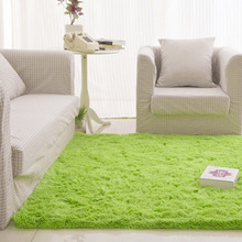 Free Shipping Fluffy Rugs Anti-Skid Shaggy Area Rug Dining80X120 Bedroom Carpet Floor Mat E#A(China (Mainland))