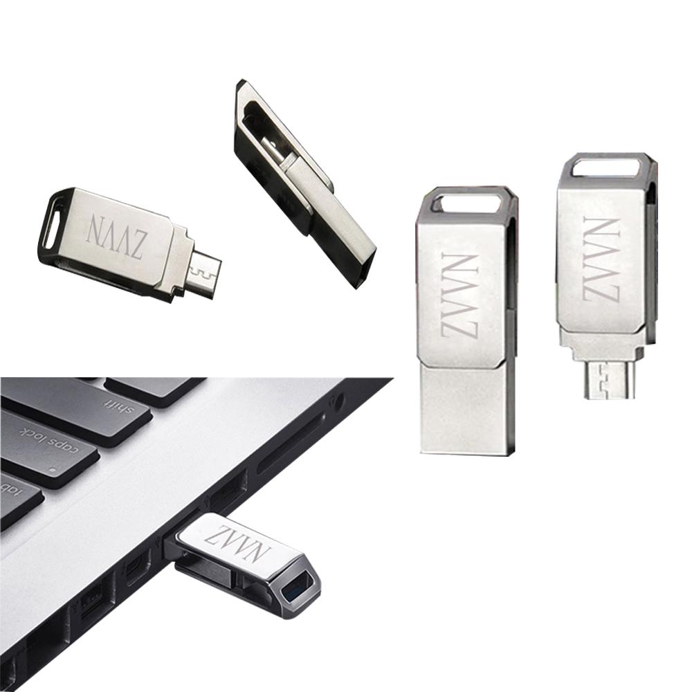 Fashion Metal otg Usb 2.0 Cle Usb 4/8/16/32/64 gb Usb Flash Drive Full Capacity Pendrive usb memory stick gift