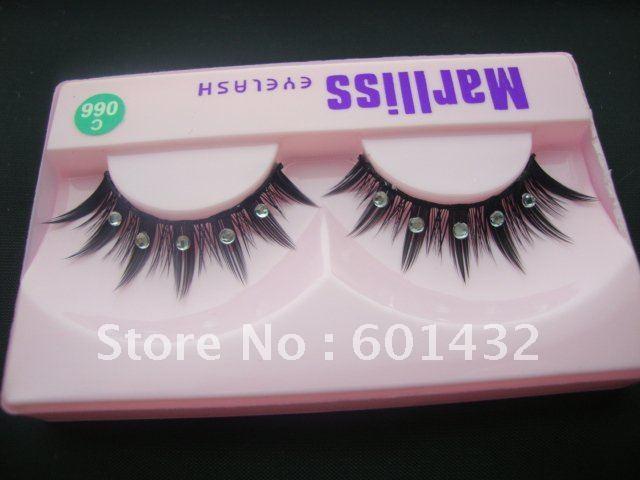 Free shipping New Top Quality eyelash extension Marlliss eyelash 504# false eyelashes blue diamond 150pair/lot(can mixed style)