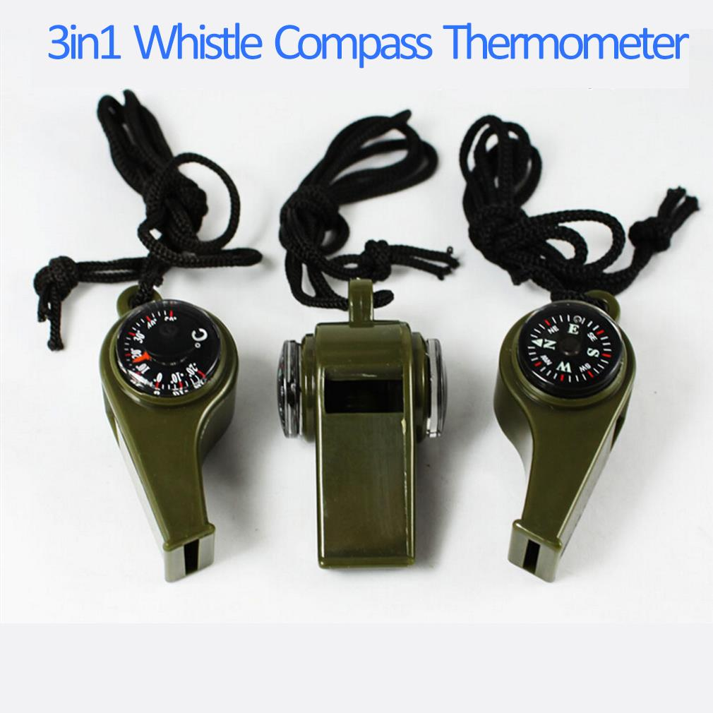 New 3 in1 Whistle Compass Thermometer For Outdoor Hiking Emergency Gear Camping Survival Hot New Arrival<br><br>Aliexpress