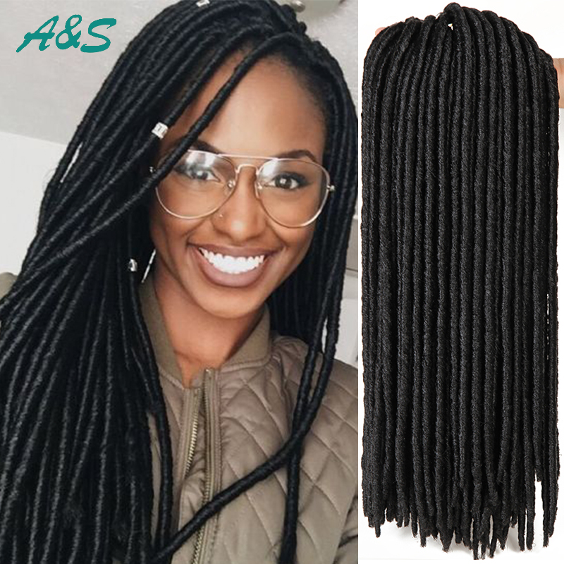 Crochet Dreads : Long faux locs braiding hair dreadlock crochet braids havana mambo ...