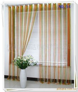 Wholesale and retail polyester string curtain  with multicolor , Ready made string curtain  ( 3m*3m),printing string curtain