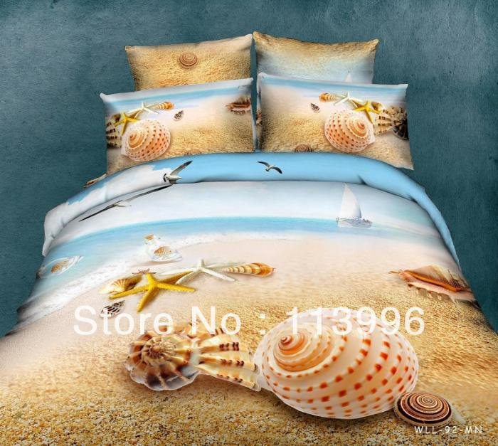 reactive dyeing sea beach shell quality cotton queen /full ...