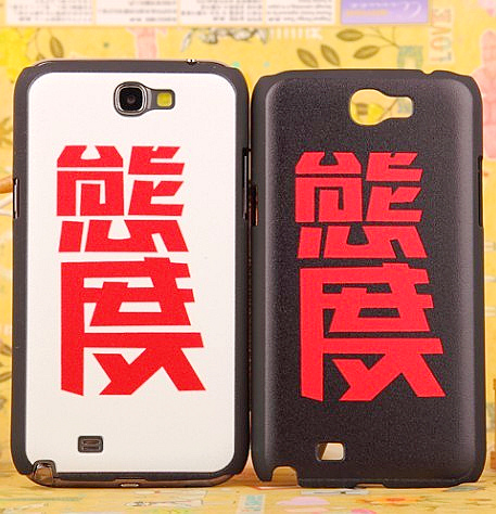 Colored drawing for samsung n7100 note2 phone case protective case cartoon relievo mobile phone case shell