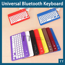 Universal Ultra Slim Aluminum Wireless Bluetooth Keyboard For ipad mini IOS Android Windows tablet PC+touch pen(China (Mainland))