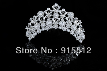 Wholesale 2013 Bling Bling Crystal Rhinestone Hair Accessories Pageant Crowns Cheap