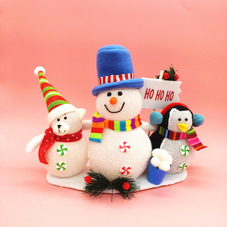 2016 Hot Selling High quality Christmas Gifts Christmas elderly snowman ornaments Party Queen St. toy manufacturers wholesale(China (Mainland))