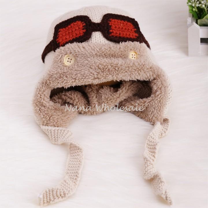 New Winter Earflap Cap Bomber Warm Cute Baby Kids Girl Boy Faux Fur Hats Knitted Warm Ski Hat Drop Shipping 29(China (Mainland))