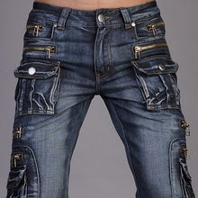 New Jeansian Brand Mens Designer Jeans Pants Trousers Denim Blue W30 32 34 36 38 Free Shipping J008(China (Mainland))