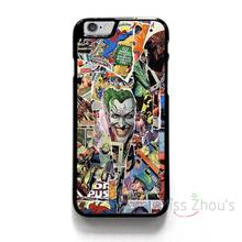 For iphone 4/4s 5/5s 5c SE 6/6s 7 plus ipod touch 4/5/6 back skins mobile cellphone cases cover COMIC COLLAGE