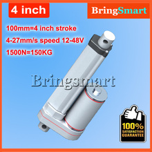 Buy 4Inch 100mm Stroke 12V DC Electric Linear Actuator 4-27mm/s 150KG Load 12-36V DC 1500N Heavy Duty Tubular Electric Motor 24V for $45.12 in AliExpress store