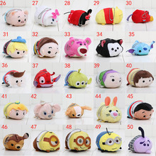 9cm Tsum Tsum Plush toy doll Duck elf doll Screen Cleaner Plush toy juguetes Snow white Mermaid Cinderella Daisy inside out(China (Mainland))
