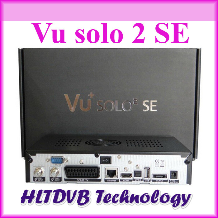 wholesale vu solo 2 se twin tuner decoder original software dvb-s2 hd Linux OS Digital satellite tv receiver high quality(China (Mainland))