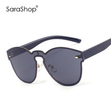 New Fashion Oval Women Sunglasses Brand Designer Men Sun Glasses Clear Frame Glasses UV400 A951