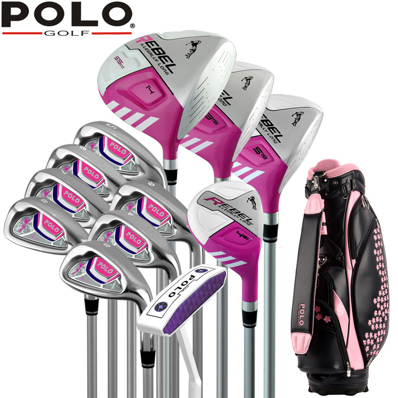 Brand POLO. Ladies golf clubs complete golf sets Women womens female golf clubs complete full set(China (Mainland))