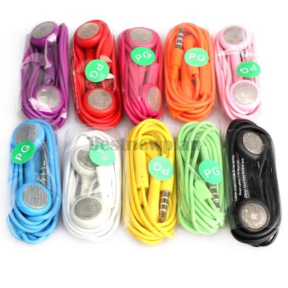 10x Earphone Headphone With Mic For iPhone 4G 4S 3GS 3G Mp3 iPod Touch Nano(China (Mainland))