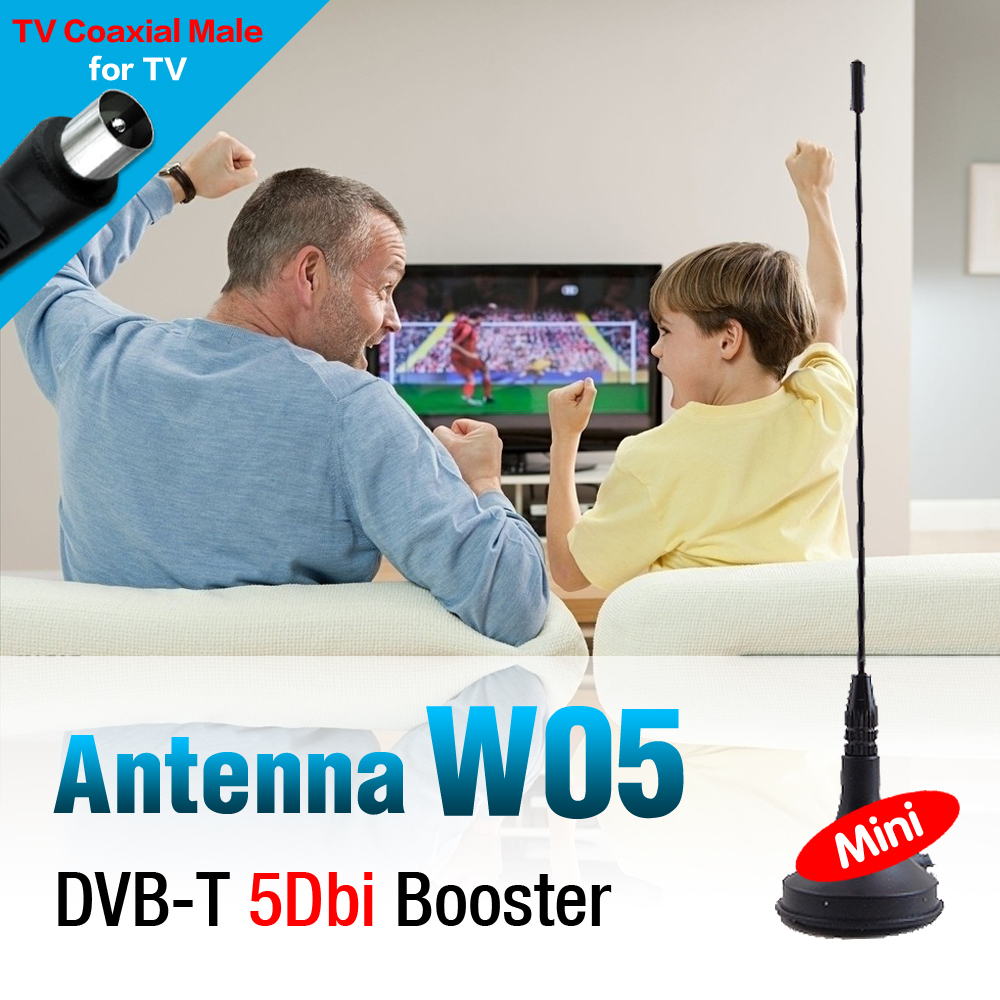 2016 new 5dBi Antenna Aerial IEC Connector Digital Freeview For DVB-T TV HDTV Indoor HD Gain(China (Mainland))