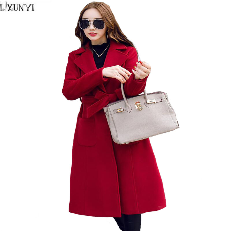 Compare Prices on Ladies Belted Cashmere Coat- Online Shopping/Buy