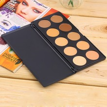New Professional 10 Color Concealer Face Care Brand Base Primer Makeup Foundation Concealer Contour Palette Professional Make Up(China (Mainland))
