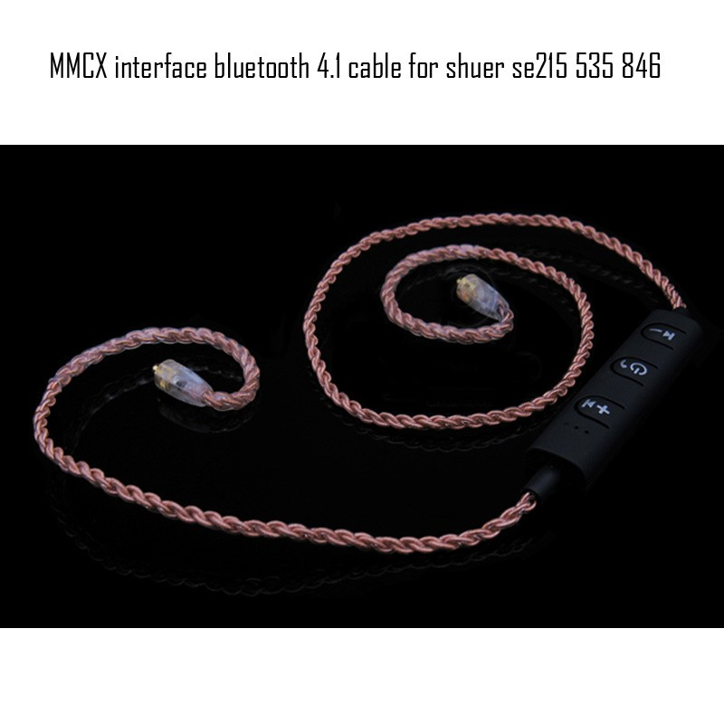 Bingsheng headphone mmcx interface Wireless Bluetooth 4.1 cable Earphone Upgrade cable For IE8IE80 SE215 SE535 SE846 UE