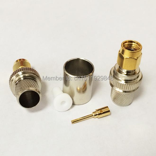 RP-SMA Male Plug RF Coax Connector Crimp RG8,RG213,LMR400 Straight Nickelplated NEW wholesale(China (Mainland))