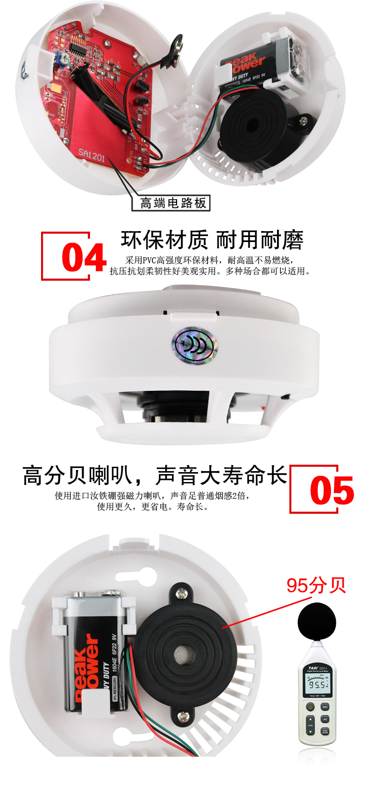 Fire Detector Home System Smoke Sensor Alarm 433mhz Working Frequencyremote Start Motorcycle Alarmled Type 064