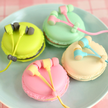Macarons design in-ear earphones Headphones Headset For Xiaomi Samsung iPhones ipad Cute headphone for MP3 Player Free shipping