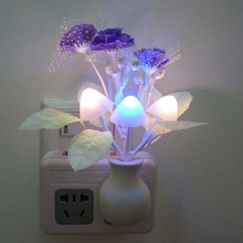 Baby kids Night lamp Romantic Colorful Sensor LED Mushroom Night Light Lamp Home Decoration Arbat Supply EU US Plug(China (Mainland))