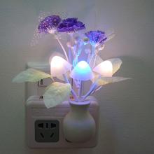 Baby kids Night lamp Romantic Colorful Sensor LED Mushroom Night Light Lamp Home Decoration Arbat Supply EU US Plug(China (Mainland))