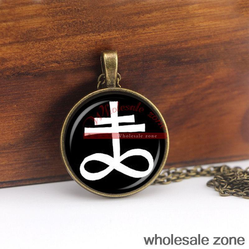 WZA1046 fashion jewelry LEVIATHAN CROSS pendant ritual altar pendant satanic occult pendant NECKLACE(China (Mainland))