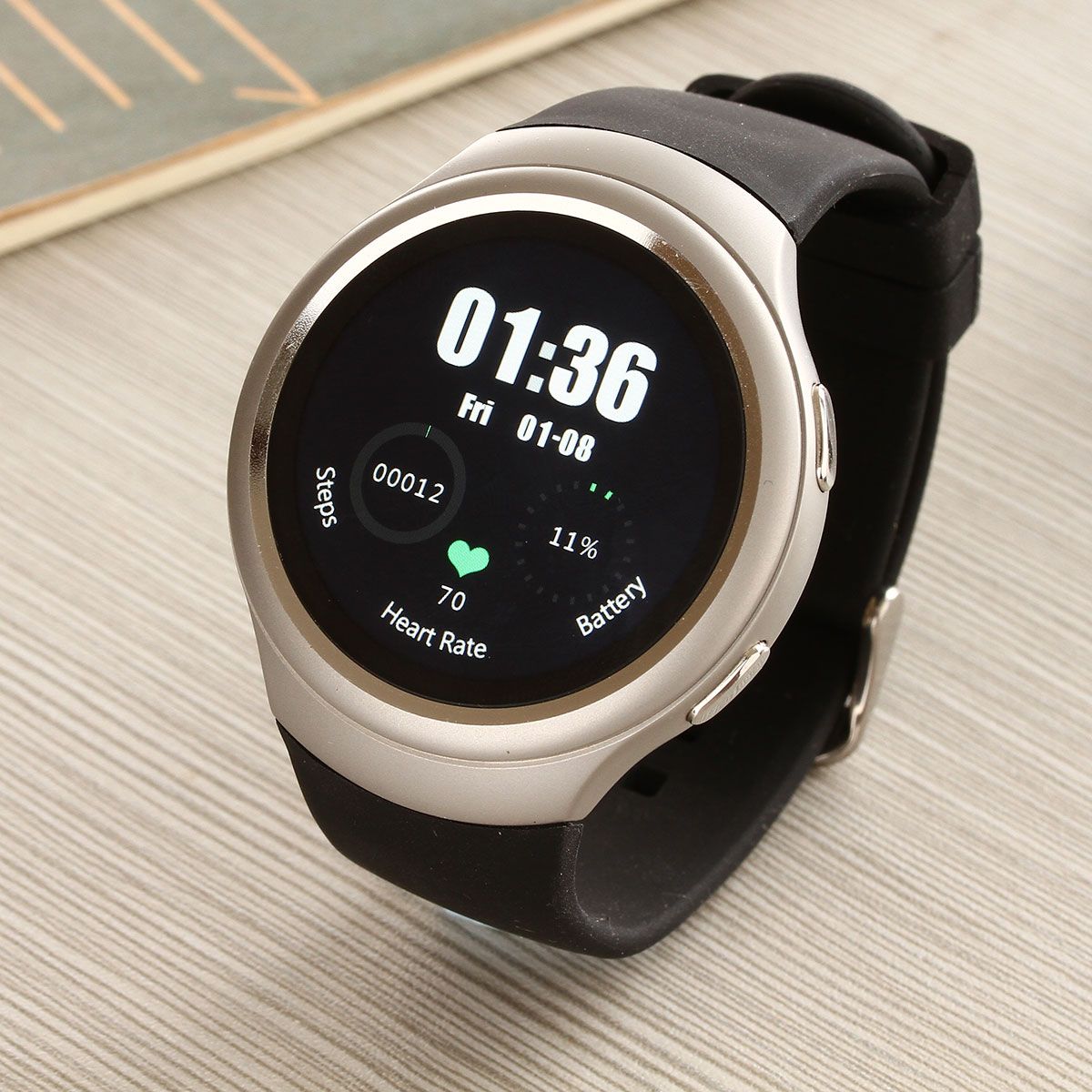 Round Android Smart Watch Phone with Wifi SIM Heart Rate Monitor GPS 3G Health Sport Bluetooth Smartwatch for Android ISO Phone(China (Mainland))