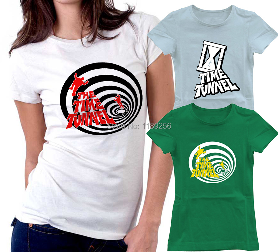 Fashion Popular Science Fiction TV Series The Time Tunnel Women T Shirts Sleeve Round Neck Female t-shirts Casual Top Tee Shirt(China (Mainland))
