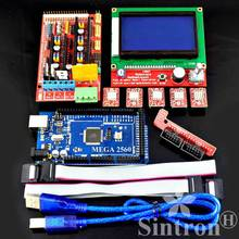 3D printer Kit RAMPS 1.4 + Mega 2560 R3 + LCD 12864 + 5pcs A4988 RepRap Mendal