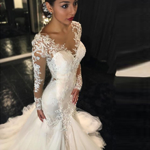 Buy African Vintage 2016 Long Sleeves Mermaid Wedding Dresses Vestido De Noiva 2016 Lace Wedding Dress Bride Dress Robe De Mariage for $176.40 in AliExpress store