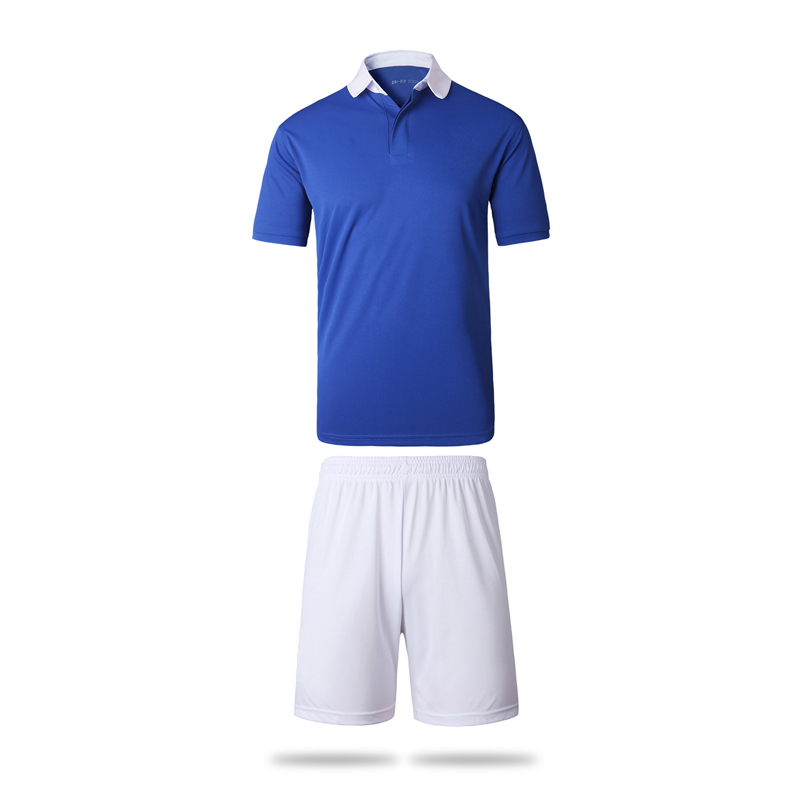 2016 Blue Jersay Sets High Quality Soccer Jerseys Sets Customized Name Number For Soccer Team Football T shirt Adult F-Blue(China (Mainland))