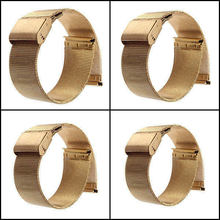 Brand New Gold 18mm 20mm 22mm 24mm Stainless Steel Watch Mesh Bracelet Strap Replacement Band