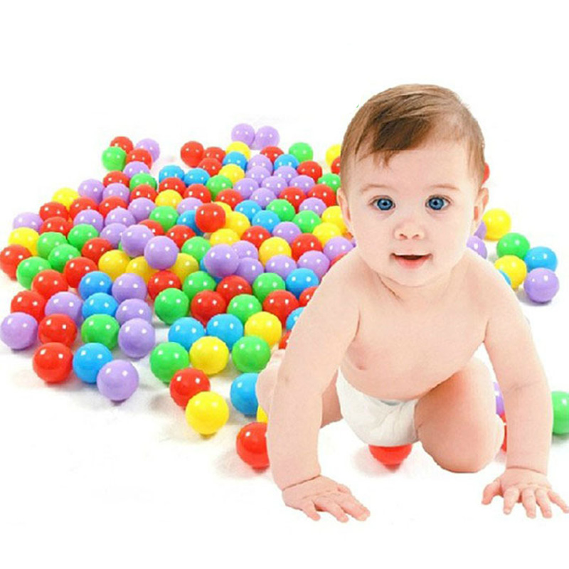 100 pcs/lot Soft Plastic Ocean Ball Colorful Ball Funny Baby Kid Swim Pit Toy Free Shipping(China (Mainland))
