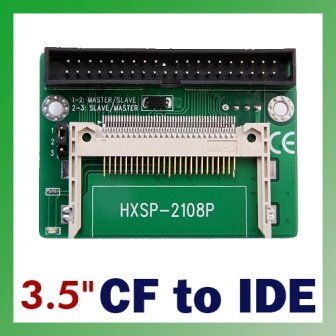 "AK CF to IDE Compact Flash Card Adapter Bootable 40pin CF to IDE 3.5"" HDD Hard Drive Converter Adaptor 3.5 inch Male Connector(China (Mainland))"