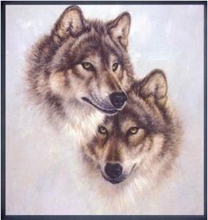 43*45 см Рукоделие DIY Волк вышивание, Наборы Для комплект Для вышивания, волк животных шаблон Графа Крест-шить-декоративная живопись