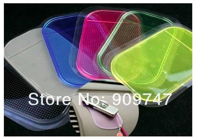 New 10pcs free shipping Car Magic Grip Sticky Pad Anti Slide Dash Cell Phone Holder Non Slip Mat(China (Mainland))
