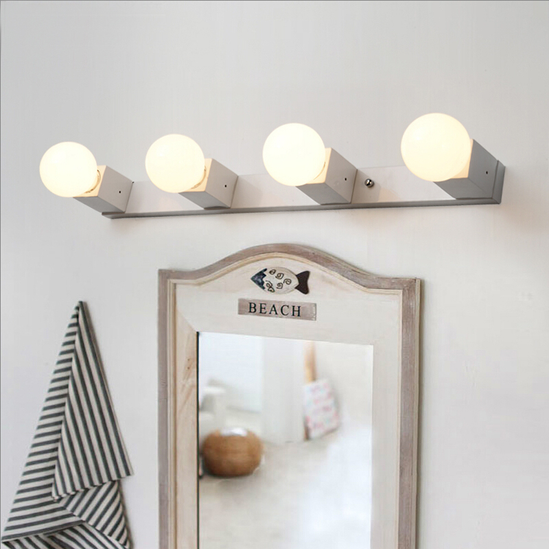 Holywood style fashion LED bathroom mirror light painted 65CM/45CM cabinet wall lamp bedroom wall sconce(China (Mainland))