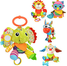 sozzy multifunction Infant Animal Plush Toys baby Sound Paper and Teether Toy Stroller Appease for Newborn(China (Mainland))