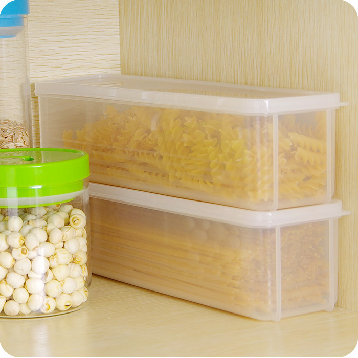 Kitchen essential Japanese noodle noodles crisper plastic storage box with lid creative storage box storage tank(China (Mainland))