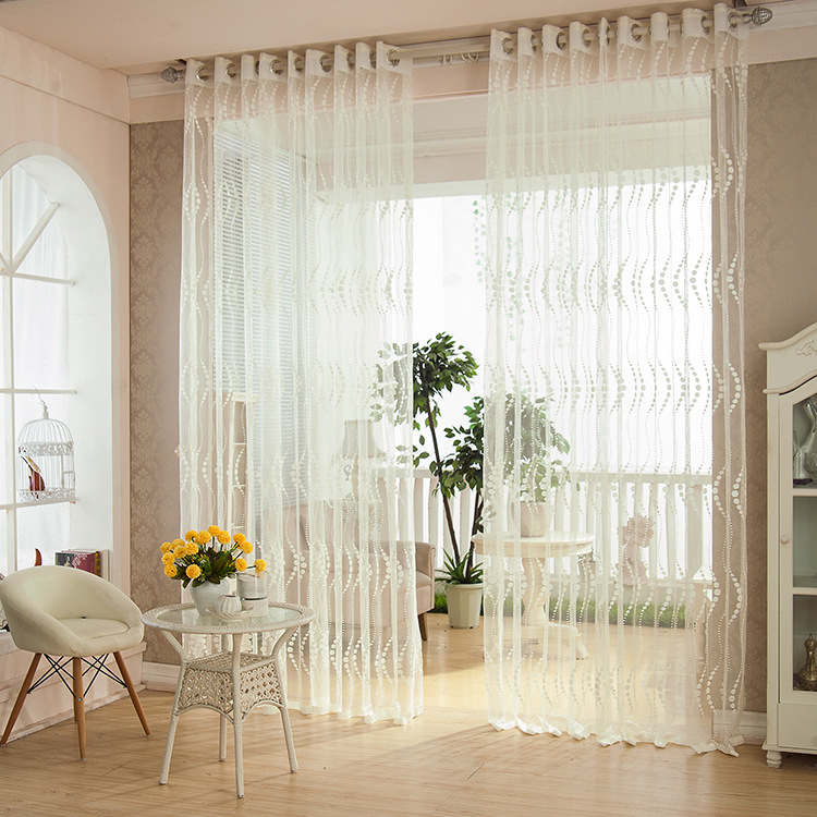 Bedroom living room brief curtain white strip window tulle for Cortinas tul ikea