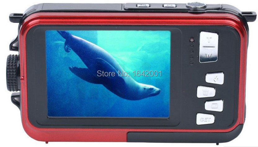 amkov authorized High Quality Waterproof 24MP Digital Camera Double Screens mini Camera  HD Camcorder w/ 1080P CMOS 16x Zoom