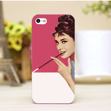 pz0006-2-1-6 Audrey Hepburn Design cellphone cases For iphone 4 5 5c 5s 6 6plus Shell Hard Lucency Skin Shell Case Cover
